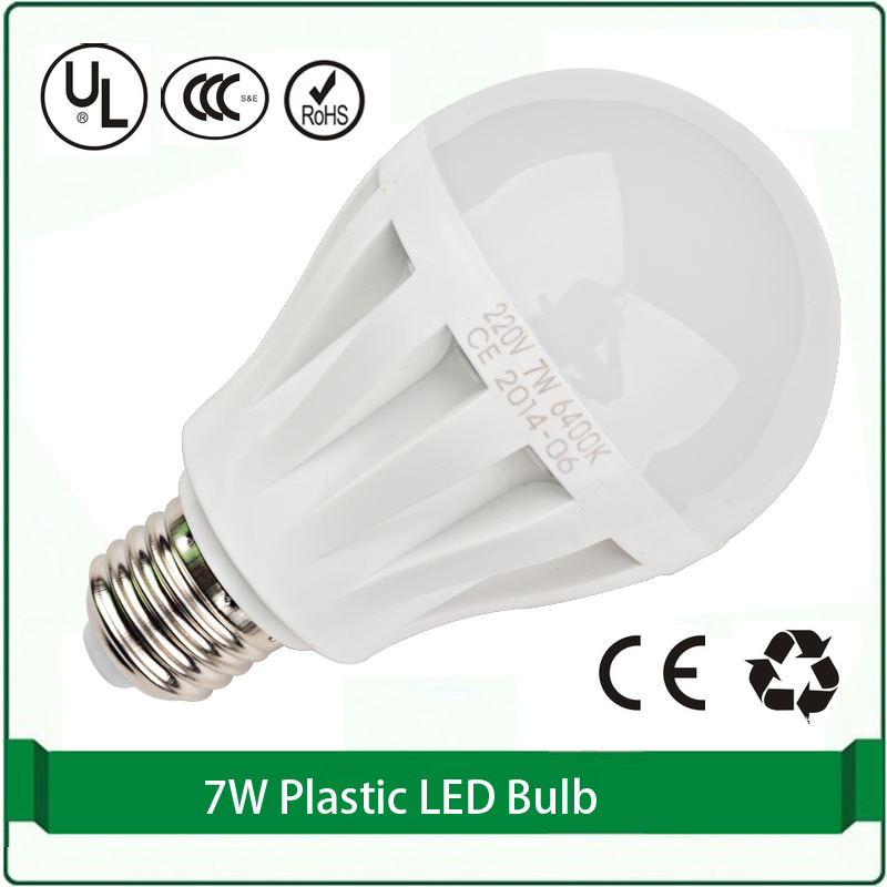 1 piece free shipping 7W 2835 smd led e26 e27 plastic led bulb lampada de led 220 led light bulb