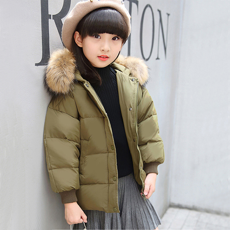 2017 Winter Down Jacket For Girl Kids Clothes Children Duck Down Jackets Girls Parka Snowsuits Hooded Warm Coats Short Outerwear fashion girl thicken snowsuit winter jackets for girls children down coats outerwear warm hooded clothes big kids clothing gh236