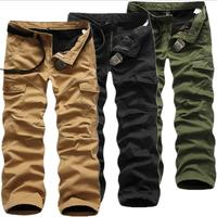 Mens Winter Pants Thick Warm Cargo Pants Casual Fleece Pockets Trouser Plus Size 40 Fashion Joggers Worker Male Sweatpants #v104