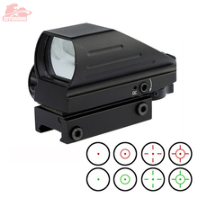 Holografische Rood/Groen Dot Sight Scope 4 Richtkruis Reflex Waarneming Hunt Optics Tactische Airsoft Riflescope 20 Mm Rail Mount op Geweer