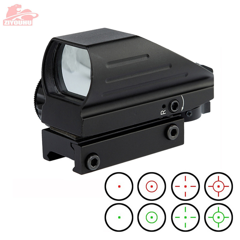 Holographic Red/Green Dot Sight Scope 4 Reticle Reflex Sighting Hunt Optics Tactical Airsoft Riflescope 20mm Rail Mount On Rifle