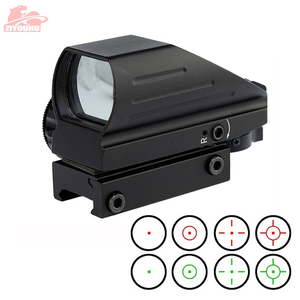 Image 1 - Holographic Red/Green Dot Sight Scope 4 Reticle Reflex Sighting Hunt Optics Tactical Airsoft Riflescope 20mm Rail Mount on Rifle
