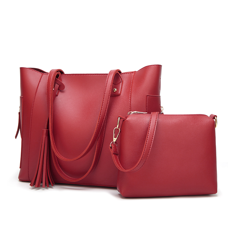 cdbd728b55691 Wysokiej jakości torba kobieca 2 sztuk zestaw PU skóra kobiet torby  kompozytowe panie kitki torby