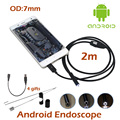7mm Lens OTG Android USB Endoscope Camera 1M/2M Waterproof Snake Tube Inspection Pipe OTG USB Borescope  Camera 6pcs LED
