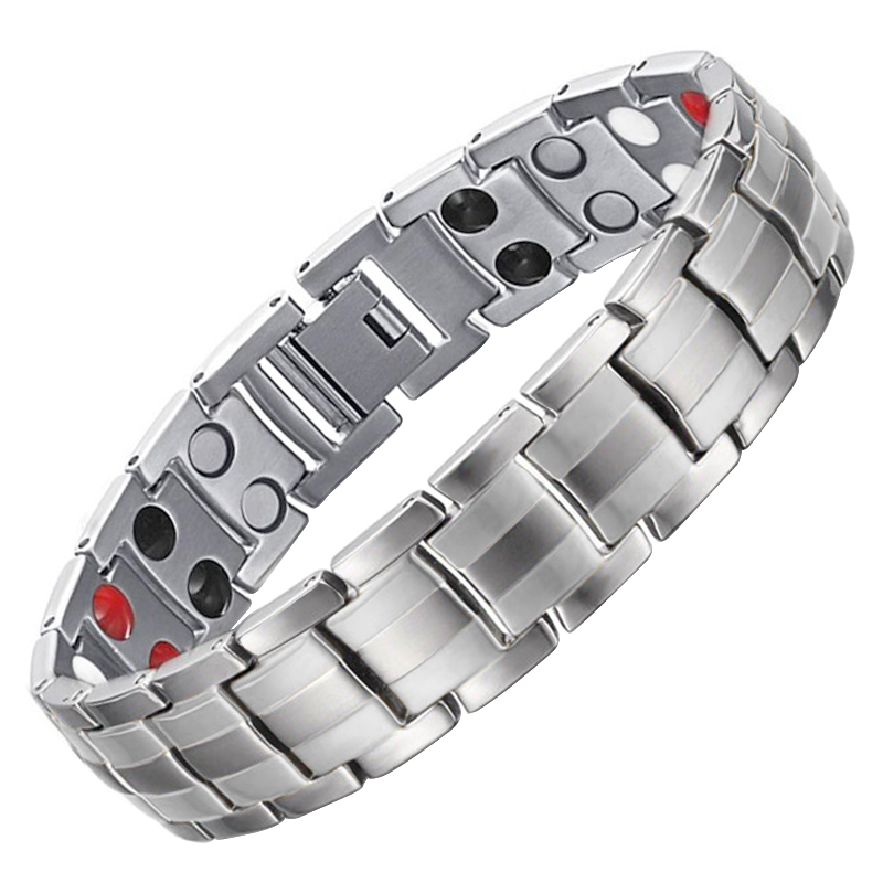 LITTLE FROG Drop Shipping Men Healthy Magnetic Bracelet Bangle Energy 316L Stainless Steel Care Jewelry Can Adjust Size 10141