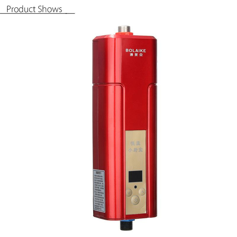 Electric Hot Water Heater Mini Wall Mounted 5500W Instant Heating ...