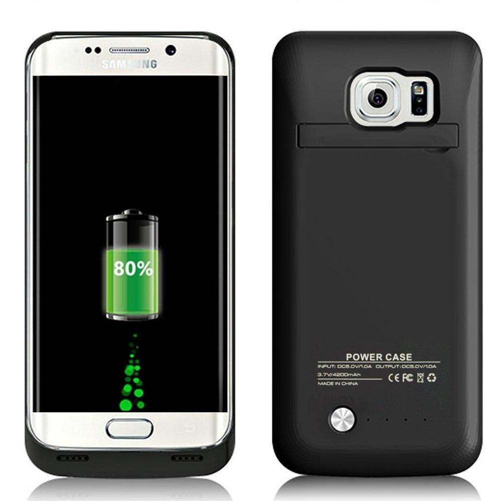 imágenes para S6 caja de batería 4200 mah delgado del paquete de la batería de reserva portable para samsung galaxy s6 extendida recargable banco de potencia caso
