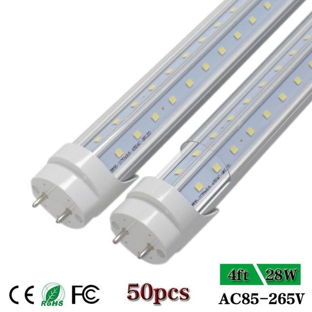 4ft Led Shop Light >> Us 437 34 6 Off Cnsunway 4ft Led Tube Light T8 G13 Bi Pin V Shaped 270 Degree Double Row Led Shop Lights Cool White Fluorescent Lamp Bulb 28w In Led