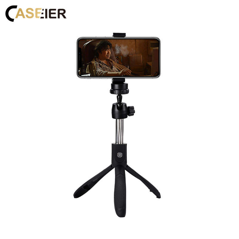 CASEIER 3 in 1 Mini Bluetooth Selfie Stick For iPhone XS MAX XR  Phone Tripod 360 Degree Portable Xiaomi