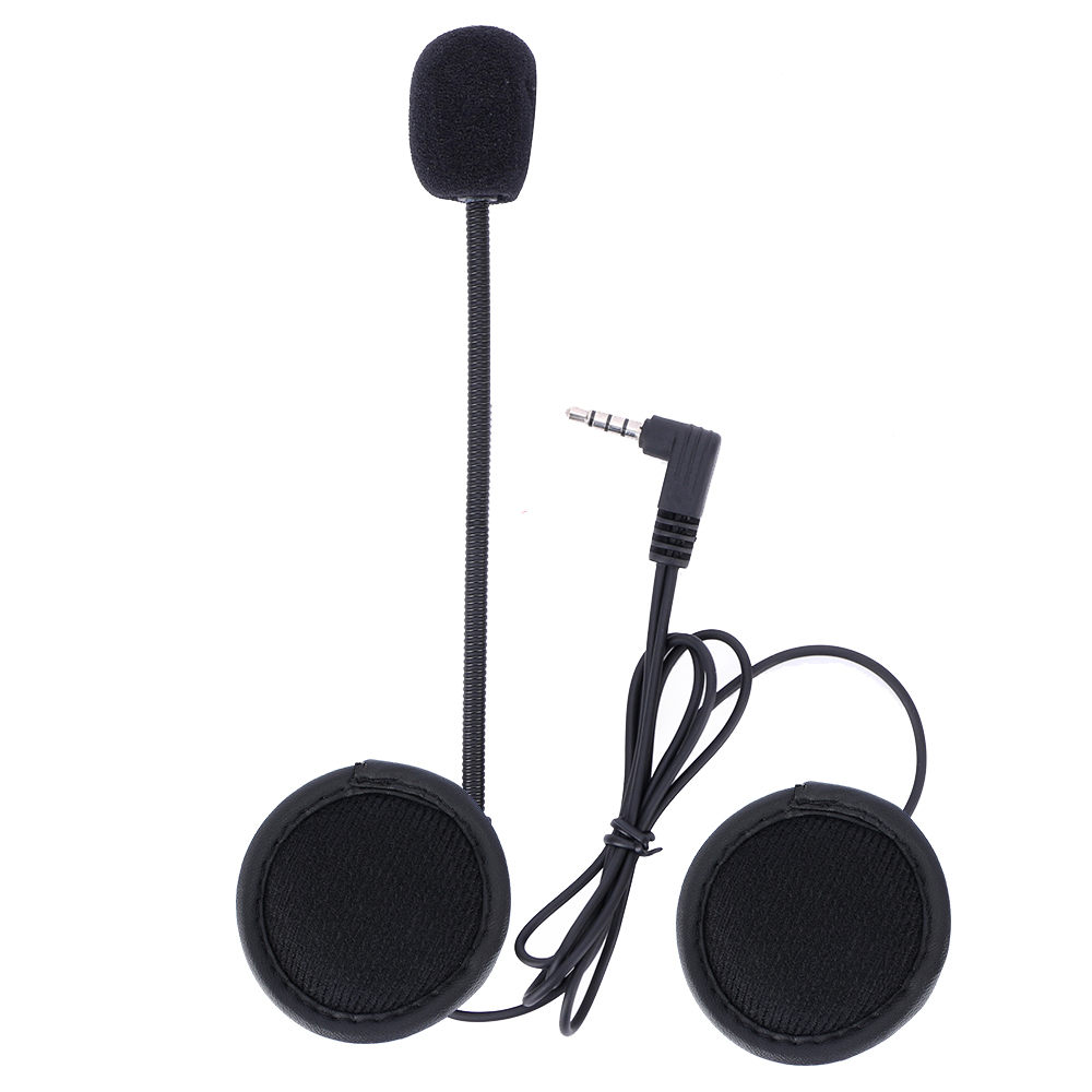 V6 V4 Intercom Accessories 3.5mm Jack Plug Earphone Stereo Suit For V6 V4 Bluetooth Intercom Motorcycle With Hard Mic