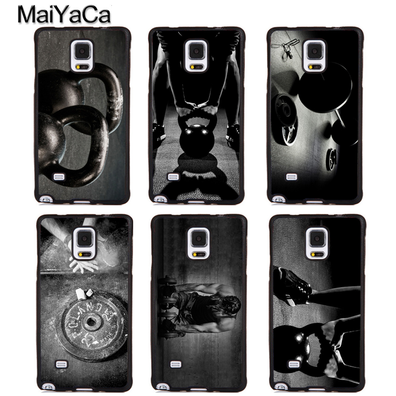 MaiYaCa Cool Gym Fitness Cross Workout Soft Rubber Phone Cover For Samsung Galaxy S5 S6 S7 S8 S9 edge plus Note 4 5 8 Back Case