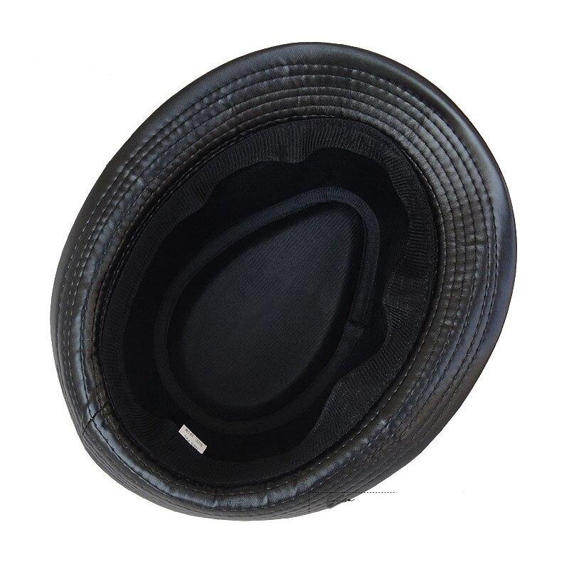 FS Otoño Invierno de cuero de la Pu de sombrero Fedora para hombres ... 932b504d9c9