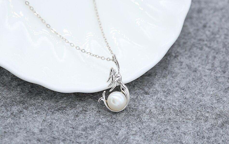 HTB1ZMwzkr5YBuNjSspoq6zeNFXa4 ORSA JEWELS 925 Sterling Silver Women Necklaces&Pendants Freshwater Pearls Unique Mermaid Pendants Fashion Female Jewelry PSN48