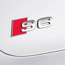 HOT car styling S3 S4 S5 S6 S8 logo Car Tail Sticker Badge Metal Rear Tail Badge Sticker For Audi Aluminum Alloy Emblem