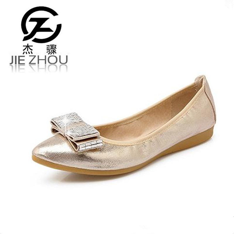 Spring new rhinestone small size flat shoes pointed head Extra Large43 45 pregnant women egg roll shoes Ballet Flats obuv