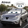 Atreus 1pc Cartoon Car Window Windshield Windscreen Cover Sun Shade For Lexus Honda Civic Opel Astra