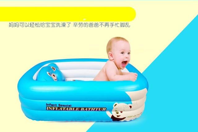 2016 venda quente inflável do bebê grande banheira de bebê recém-nascido grosso plástico dobrável cartoon criança crianças banheira