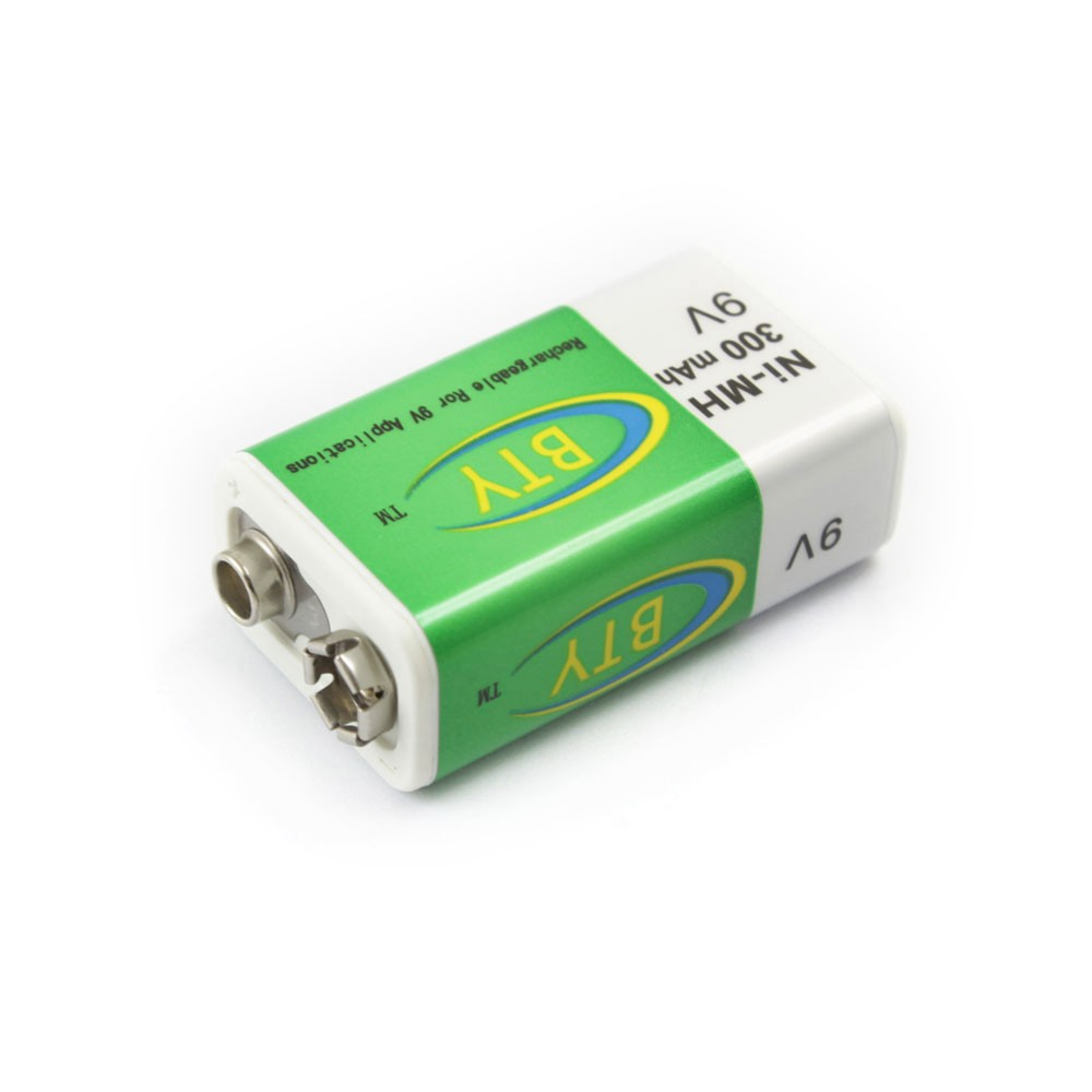 BTY Ni-MH <font><b>300mAh</b></font> 9V Rechargeable Ror 9V Rechargeable <font><b>Battery</b></font>