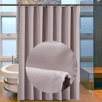 Wodoodporna pleśni pogrubienie zasłona prysznicowa jednolity kolor zasłona prysznicowa łazienka kurtyna imitacja lnu zasłona prysznicowa D40 tanie i dobre opinie CN (pochodzenie) POLIESTER Nowoczesne Stałe 19L26D40 Ekologiczne Polyester 90-180cm wide 200cm long Eco-Friendly New Classical Post-modern