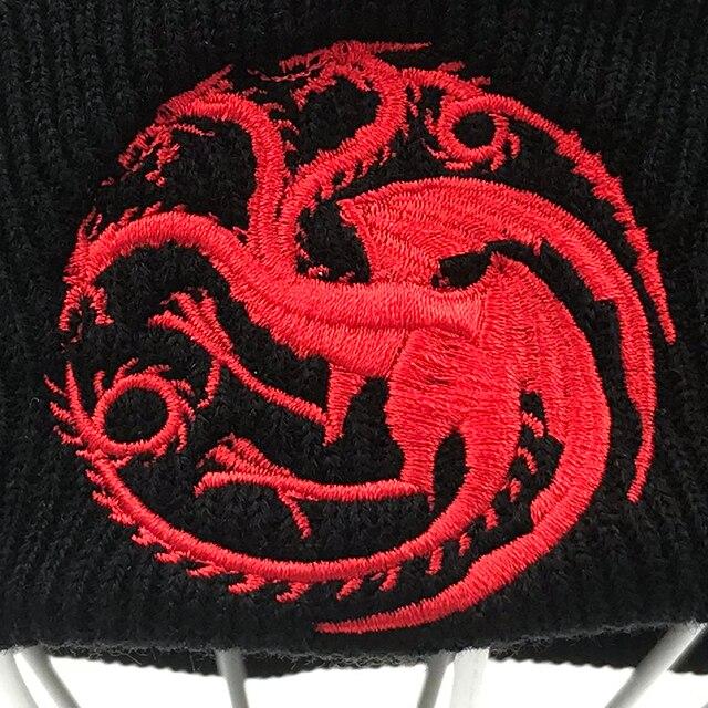 """House Targaryen"" Knitted Hip Hop Сap  1"