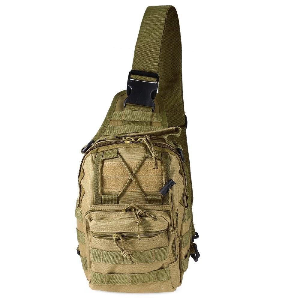 Hotsale 9 Color 600D hombro deportes al aire libre militar de excursión que acampa táctico bolsa Camping caza mochila Utility bolsa de pecho