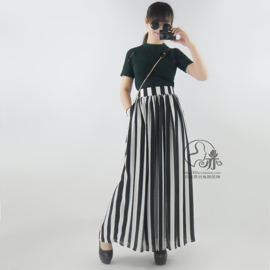 Popular Striped Skirt Black and White Vertical-Buy Cheap Striped ...