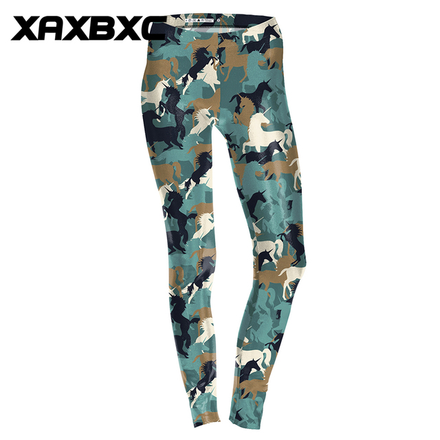 dc257eb211 2018 D1744 Camouflage Unicorn Black Cat Print Push Up Slim Tights Fitness  Women Jogging GYM Yoga Pants Femme Sport Leggings
