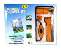 DC12V Outdoor portable Car Bath apparatus travelling Wash vegetables Wash cars tools Car bath room washing set Car Shower set