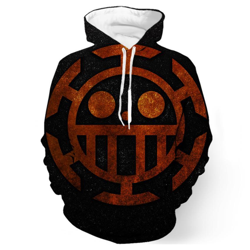 2017 new fashion Cool sweatshirt Hoodies Men women 3D print Trafalgar Law Symbol One Piece Tee hot Style Streetwear Long sleeve