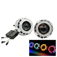 2 5 Inch Mini HID Bixenon Projector Lens CCFL Drl Led Day Running Light Double Angel