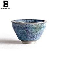 100 мл ручная работа керамическая фарфоровая печь Позолоченная серебряная чайная чашка чайный набор кунг фу для Саке вино черный чай кофейна