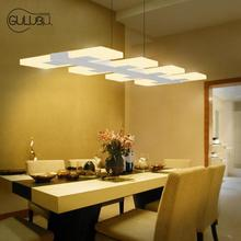 6/8 luces de la Cocina llevó la Iluminación de la Lámpara Rectangular de Acrílico Comedor Lámpara casera Del Led lighting Bar Pendientes
