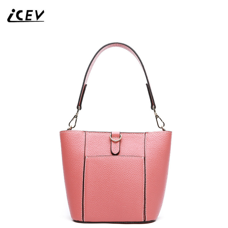 ICEV New Korean Fashion Bags Handbags Women Famous Brands High Quality Designer Genuine Leather Handbags Women Leather Handbags icev new fashion europe style genuine leather handbags alligator women leather handbags bags handbags women famous brands bolsa