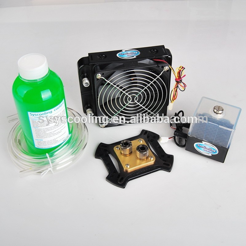 watercooling kits syscooling water cooler pump aluminum radiator system syscooling p60d water pump with water tank