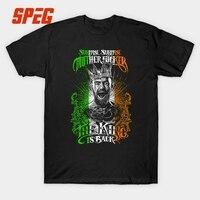 Notorious Conor Mcgregor T Shirt Men Short Sleeve Casual MMA Irish Flag Design 3XL Cotton 100