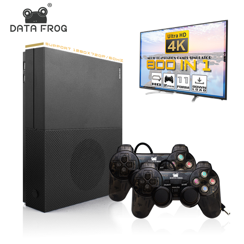 Data Frog HD Game Console 64 Bit Support 4K HDMI TV Output Built In 800 Games For PS1/GBA Retro Console