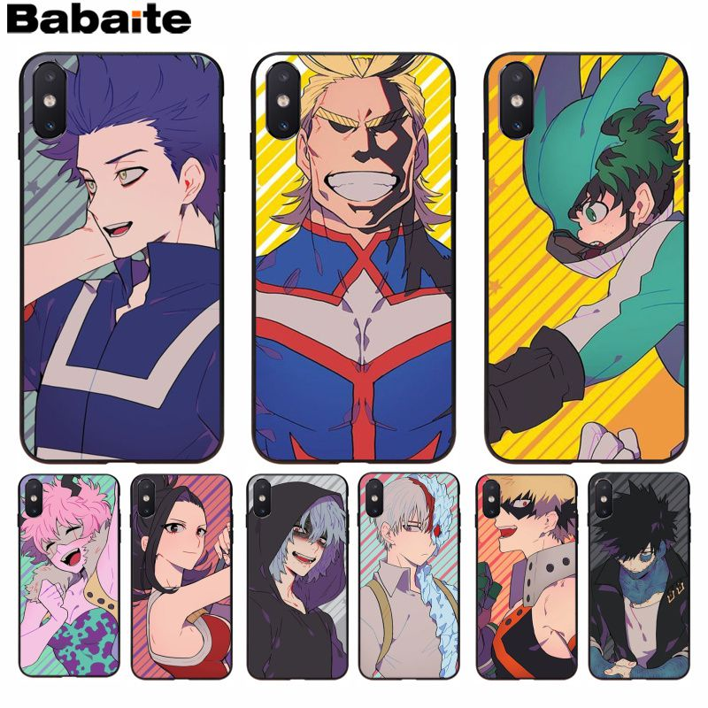 Half-wrapped Case Babaite My Hero Academia Novelty Fundas Phone Case Cover For Iphone 8 7 6 6s Plus 5 5s Se Xr X Xs Max Coque Shell Phone Bags & Cases