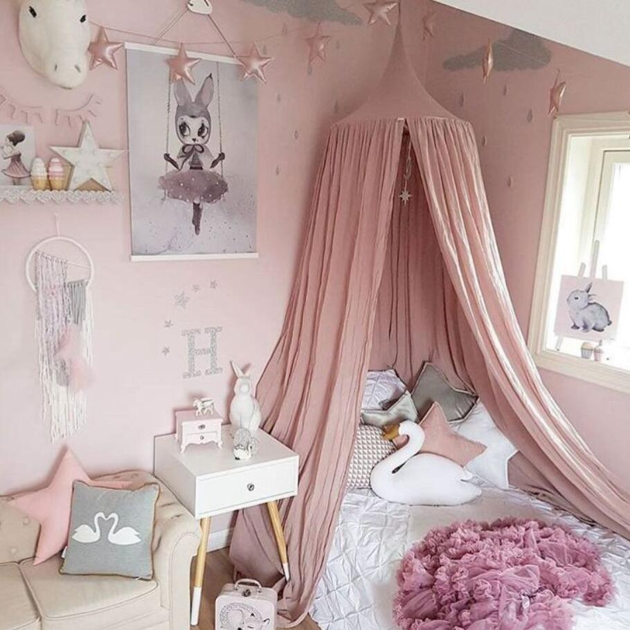 Crib Netting Children Room Hung Dome Mosquito Net exclusive custom kids room dome bed curtain bed curtain tent Room Decor 240cm mosquito nets curtain for bedding set princess bed canopy bed netting tent
