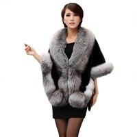 Elegant Womens Faux Fur Scarves Super Large Winter Warm Fur Coat Shawl Cape Fashion Solid Ladies Faux Fur women's scarvesB