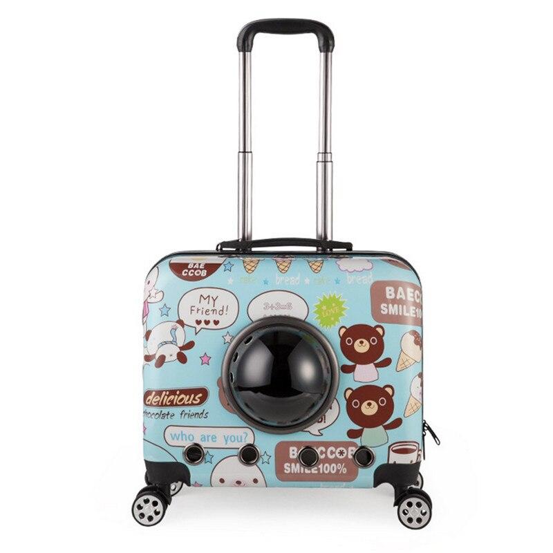 Petits Animaux Animaux bagages sur roues chien Chat Transporteur Voyage Fourre-Tout Chariot Sacs pour Chiens Poussette Bagages Livraison gratuite