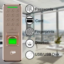 Eseye Access Control System Fingerprint Door Lock Attendance System USB Disk Machine Recorder Employee For Office цена