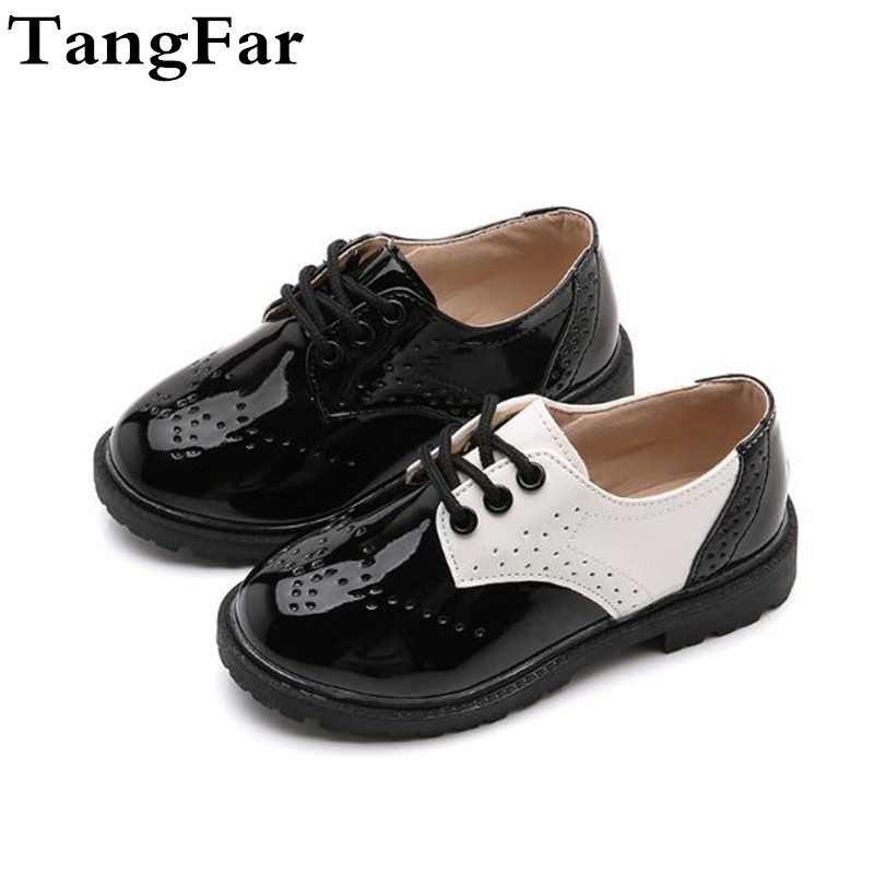 New Boys Leather Shoes Fashion Causal Kids School Shoes Formal Wedding Shoes  For Girls Flat Shoes