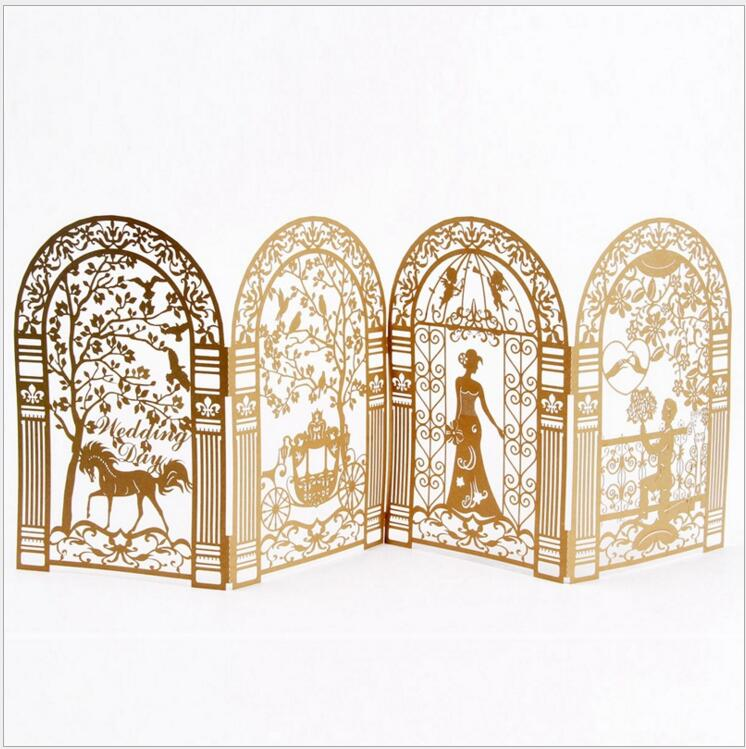 New arrival paper cut korea style wedding invitations wedding cards new arrival paper cut korea style wedding invitations wedding cards folding wedding decoration for weddings in cards invitations from home garden on junglespirit Image collections