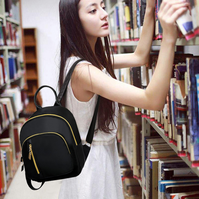 2017 Autumn Winter New Hot Fashion Women Female Casual Students School Zipper Simple Black Soft Shoulder