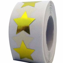Gold and silver Star Shape Stickers - 2