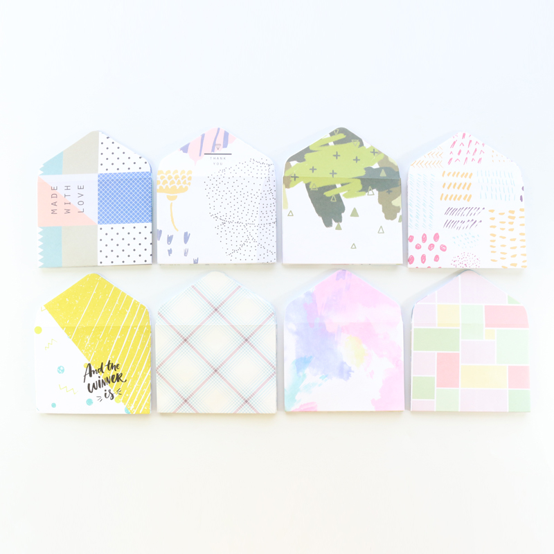 Domikee Cute Kawaii School Student Mini Envelope Sets Stationery,candy Stickers Cards Organizing Paper Bags For Notebooks,12pcs