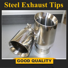 FREE SHIPPING: Newest Style stainless steel universal exhaust system end pipe+car exhaust tip 1 piece