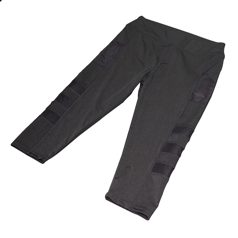 Ladies sports leggings with pocket - side pockets with mesh