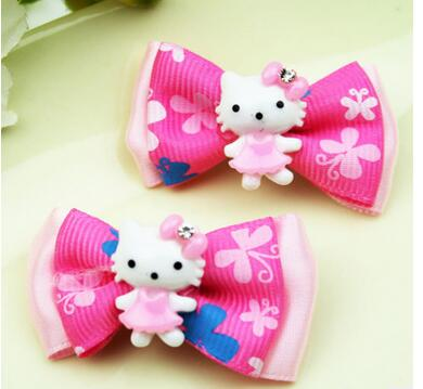 8e2bdaf6c 60pc/lot Hot sale Pet Dog puppy Hello kitty hair bows grooming bows hair  clips hairpin exquisite hair accessory Pet clips FM87-in Dog Accessories  from Home ...