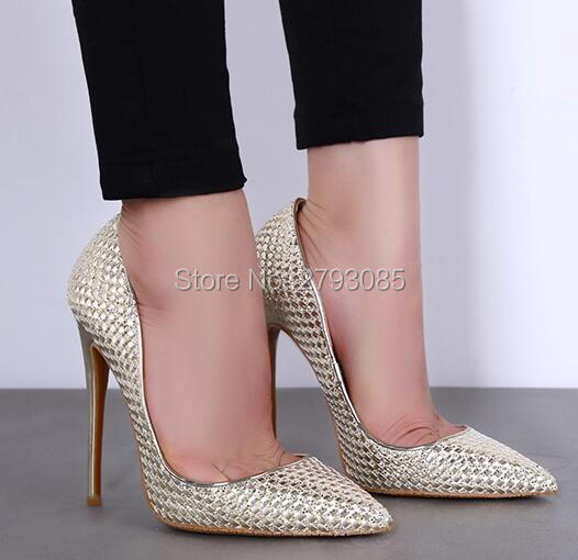 ФОТО 2017 Fashion Genuine Leather Concise Elegant Super High Heel Round Toe Party Thin Heel Shallow Ankle Pump Hollow Out Woman Pump